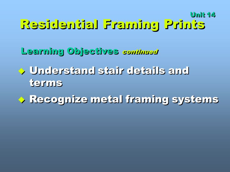Residential Framing Prints