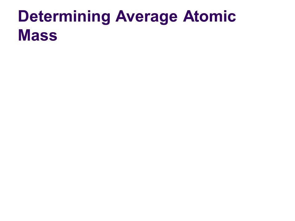 Determining Average Atomic Mass