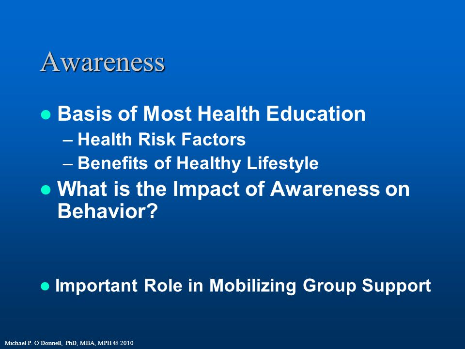 Awareness Basis of Most Health Education