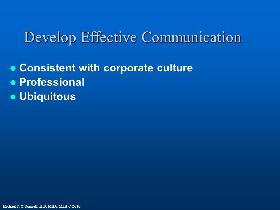 Develop Effective Communication