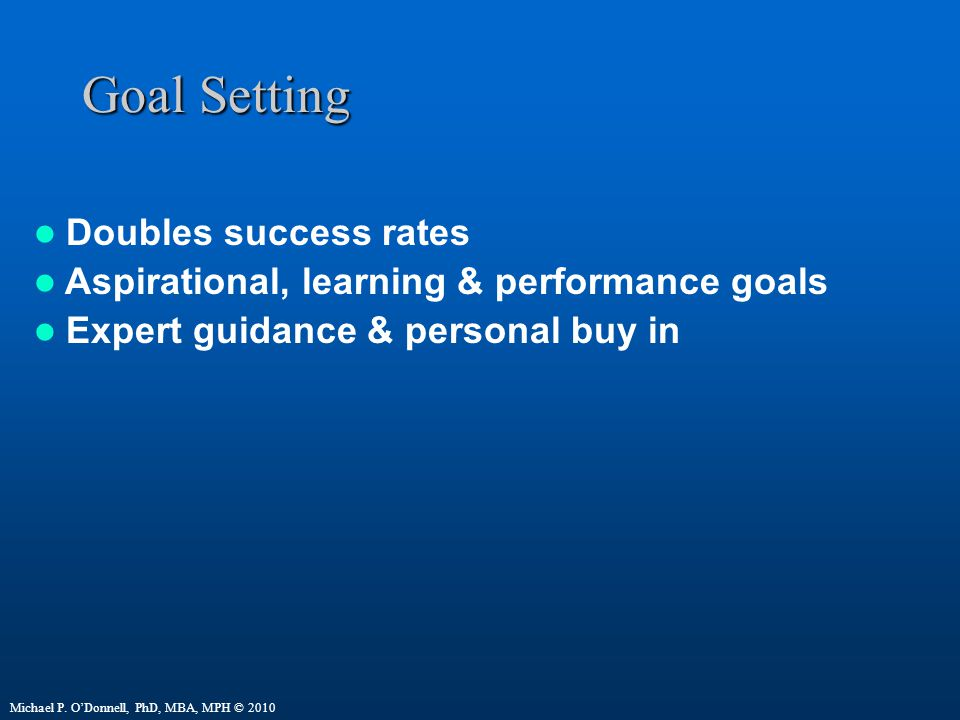 Goal Setting Doubles success rates