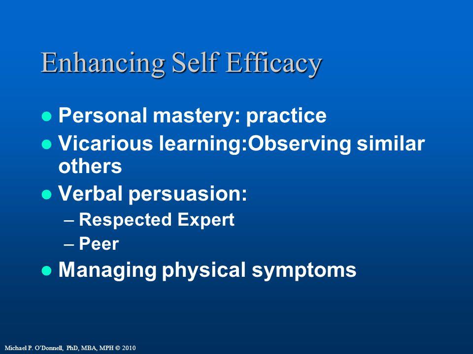 Enhancing Self Efficacy