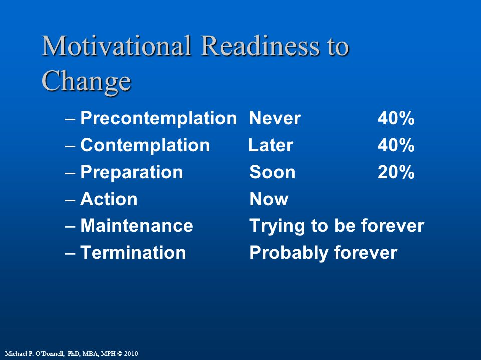 Motivational Readiness to Change