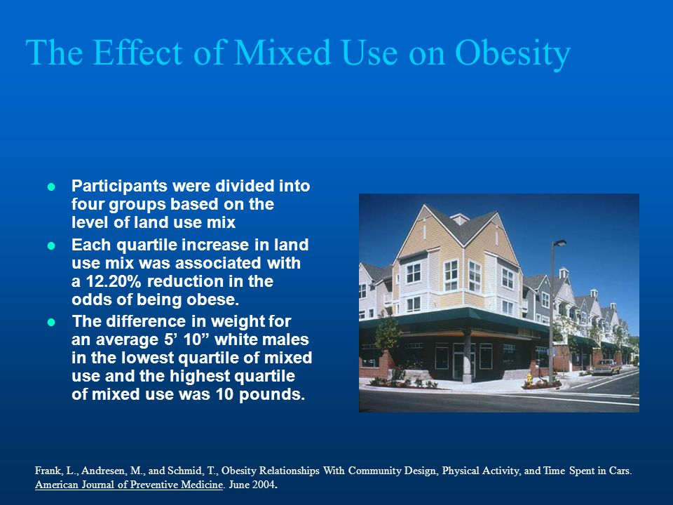 The Effect of Mixed Use on Obesity