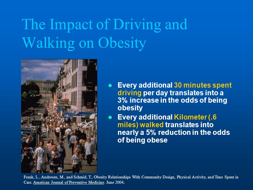 The Impact of Driving and Walking on Obesity