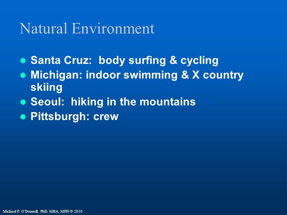 Natural Environment Santa Cruz: body surfing & cycling