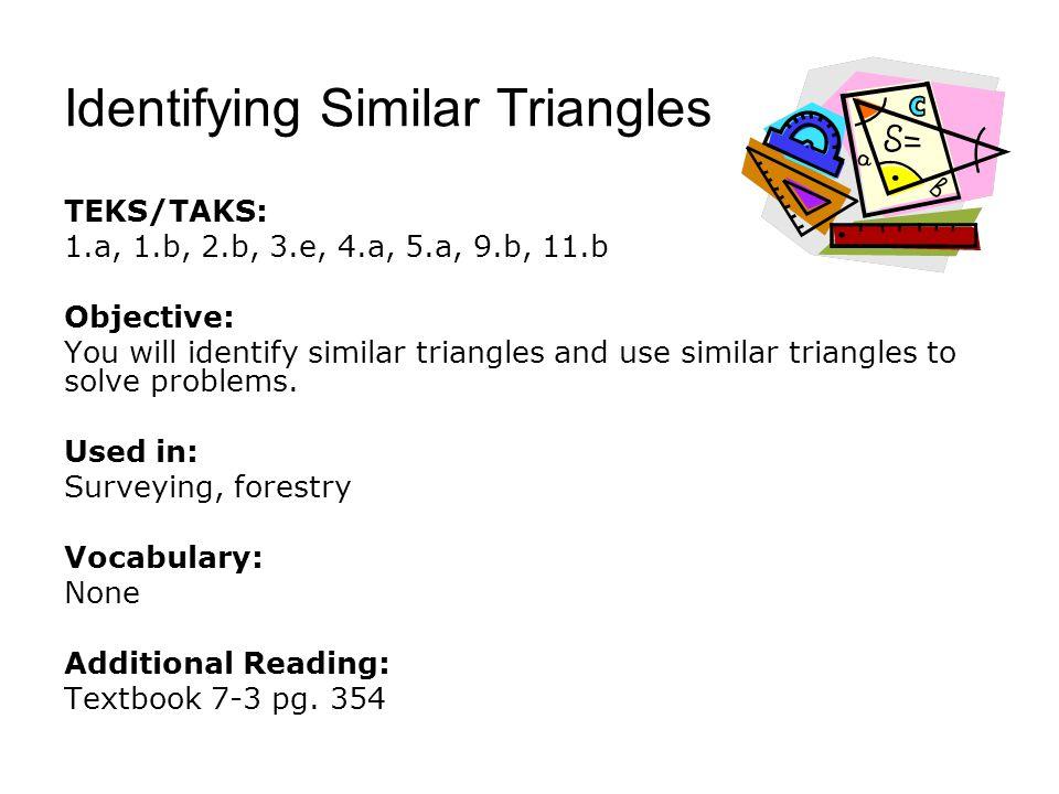 Identifying Similar Triangles
