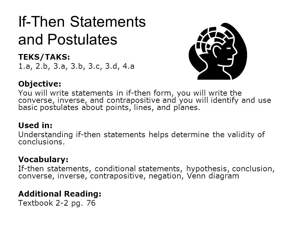 If-Then Statements and Postulates