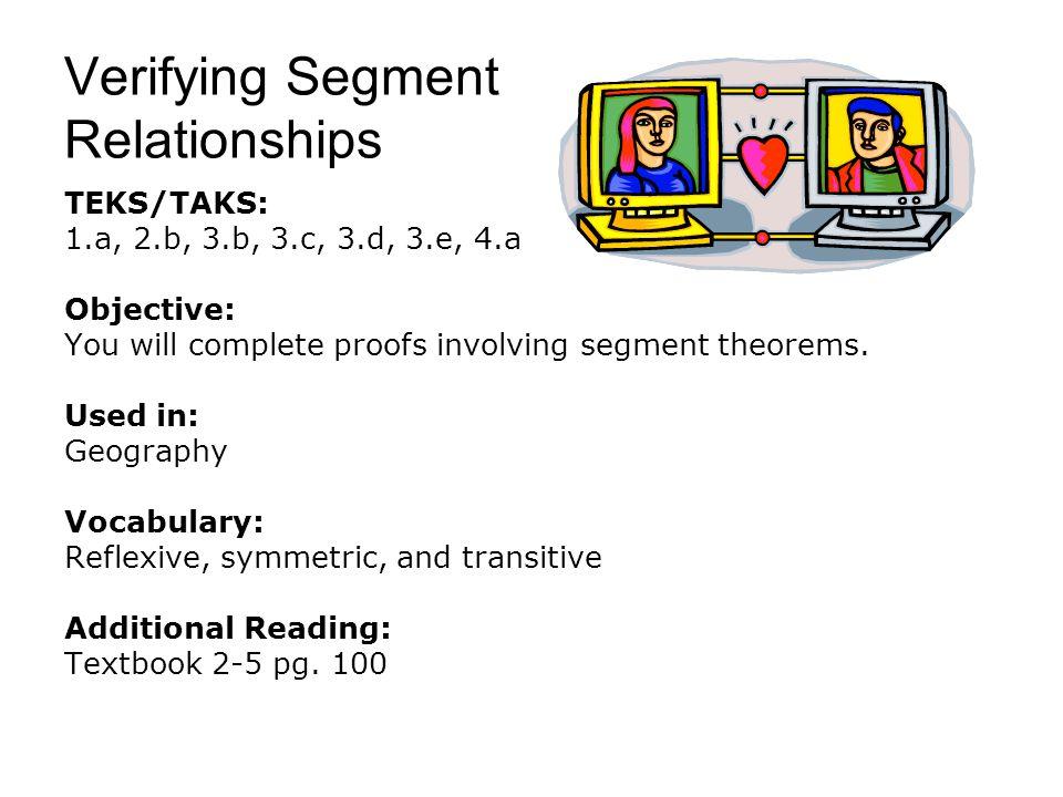 Verifying Segment Relationships