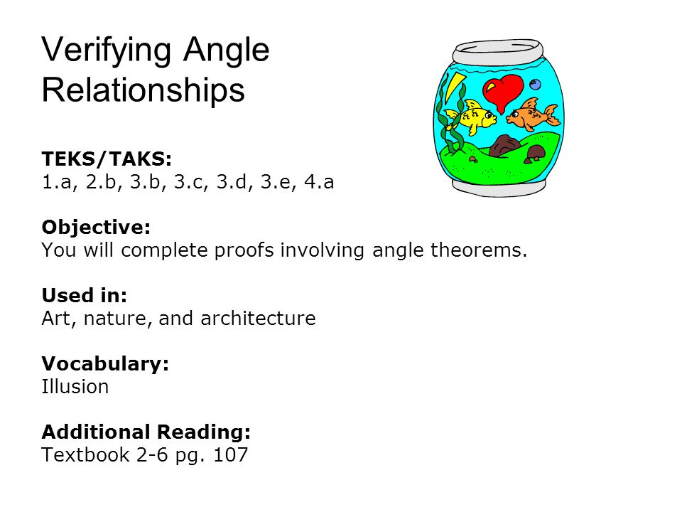 Verifying Angle Relationships