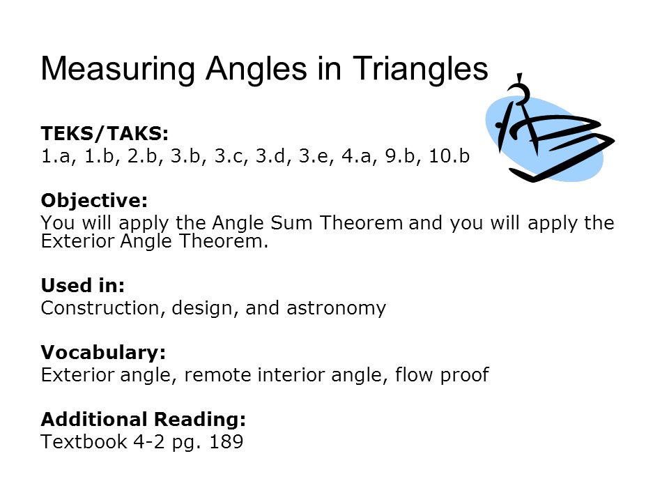 Measuring Angles in Triangles