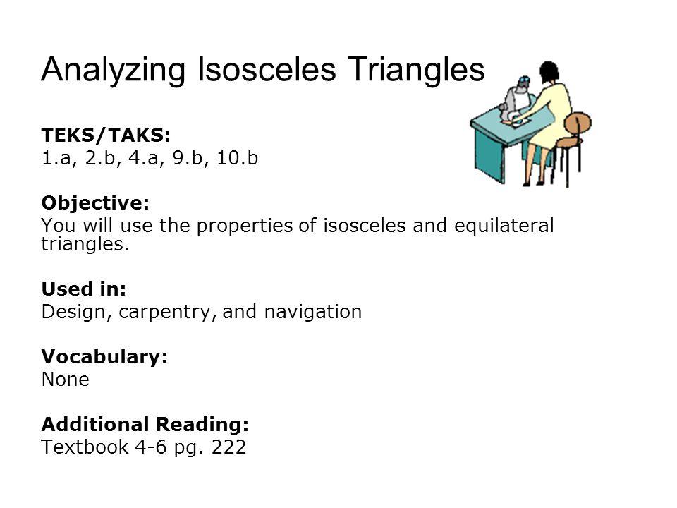Analyzing Isosceles Triangles