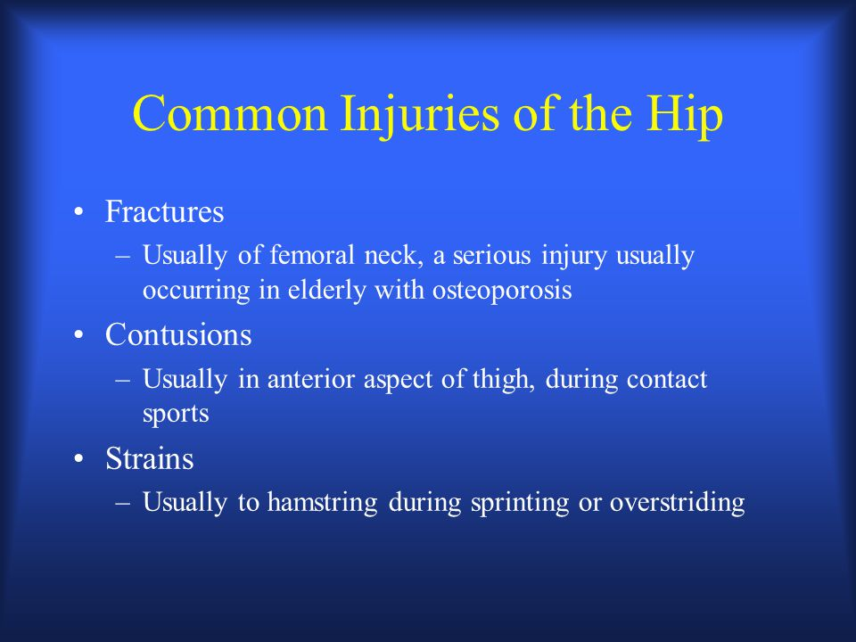 Common Injuries of the Hip