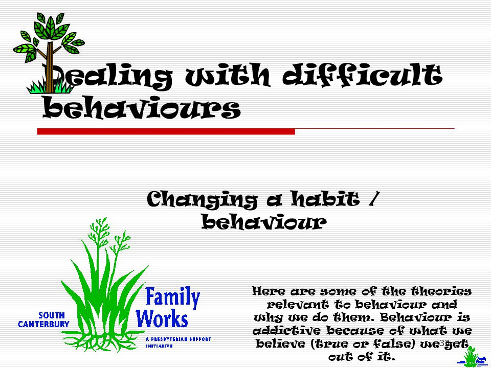Dealing with difficult behaviours