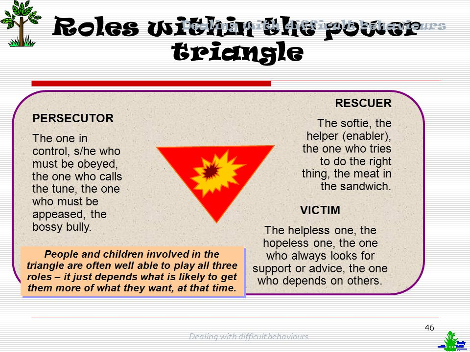 Roles within the power triangle