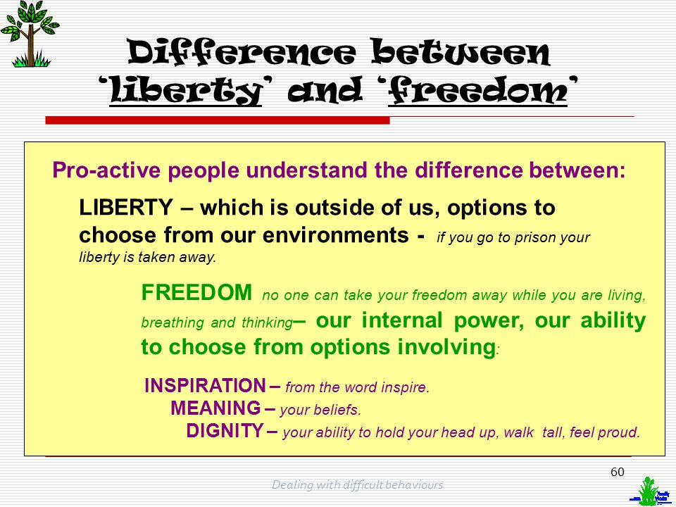 Difference between 'liberty' and 'freedom'
