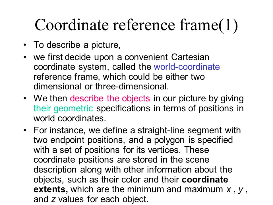 Coordinate reference frame(1)