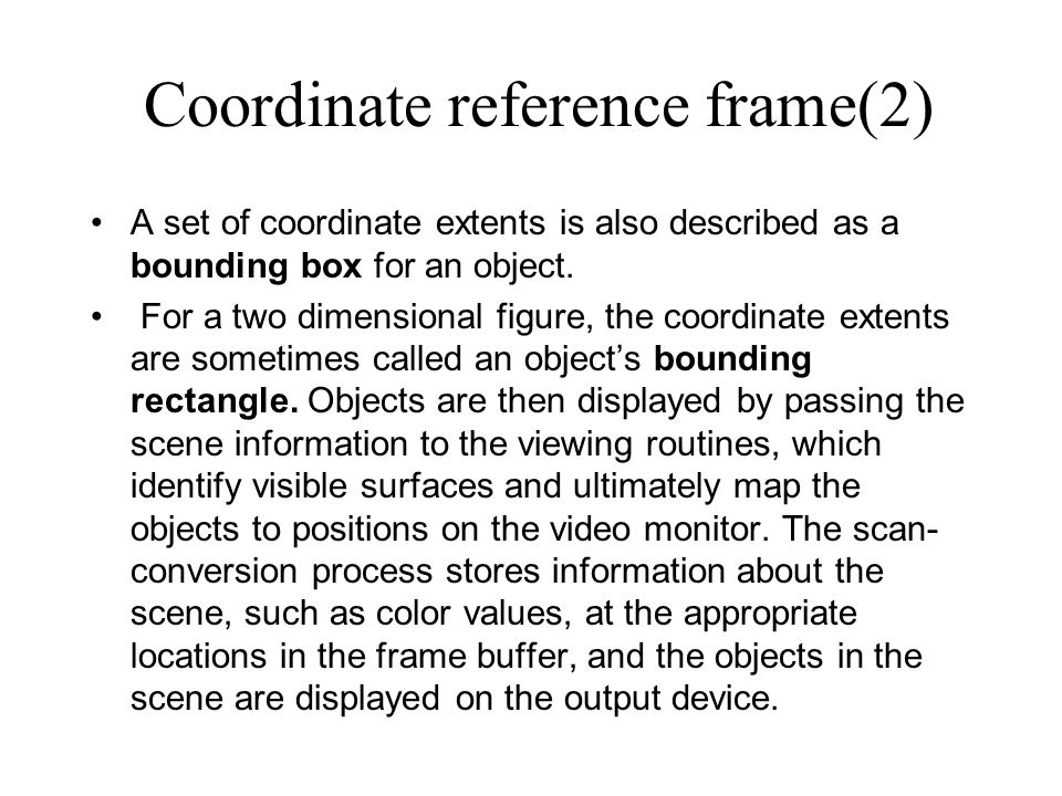 Coordinate reference frame(2)