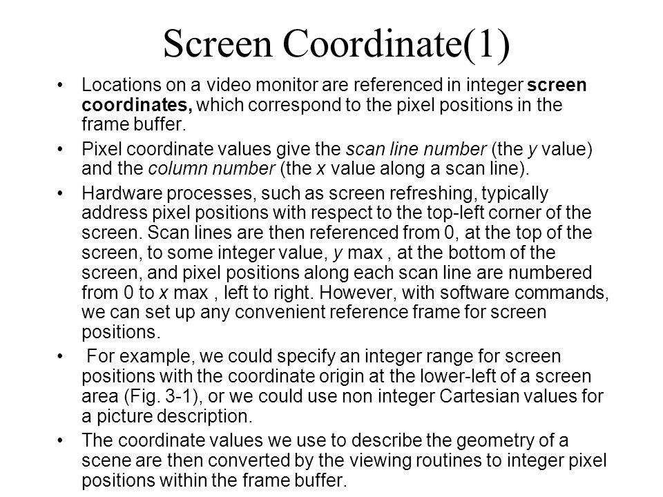 Screen Coordinate(1)
