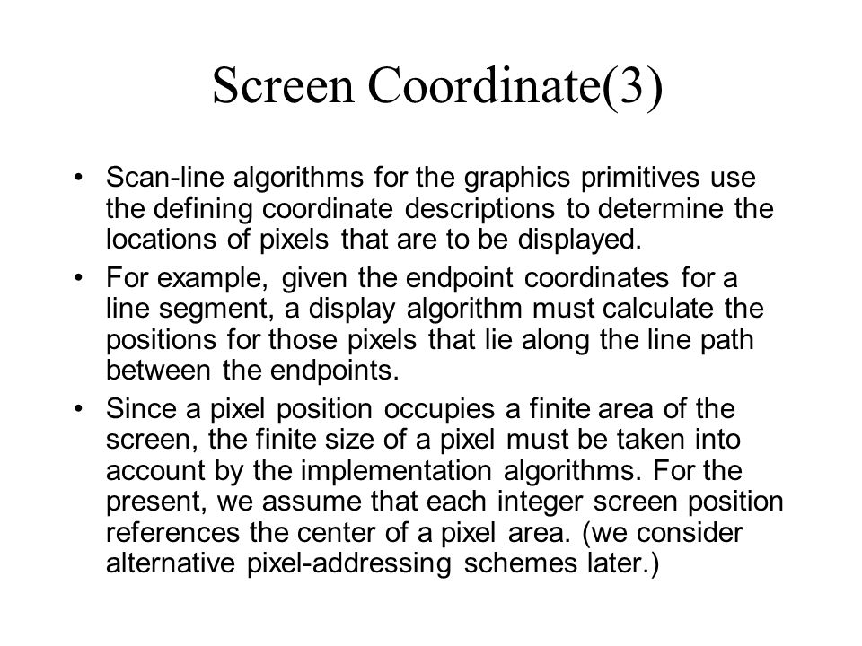 Screen Coordinate(3)