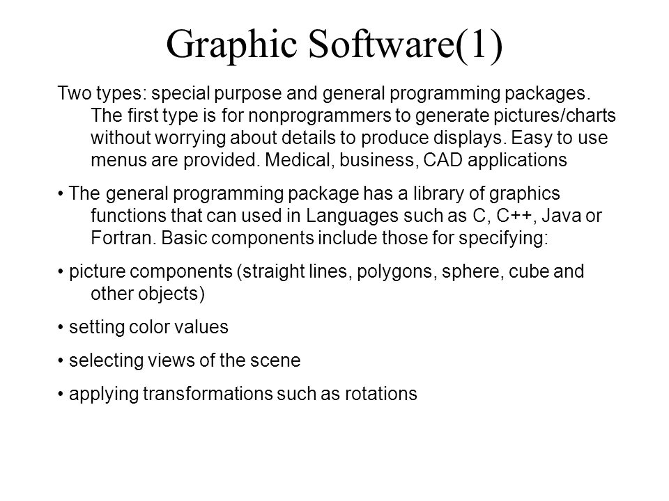 Graphic Software(1)