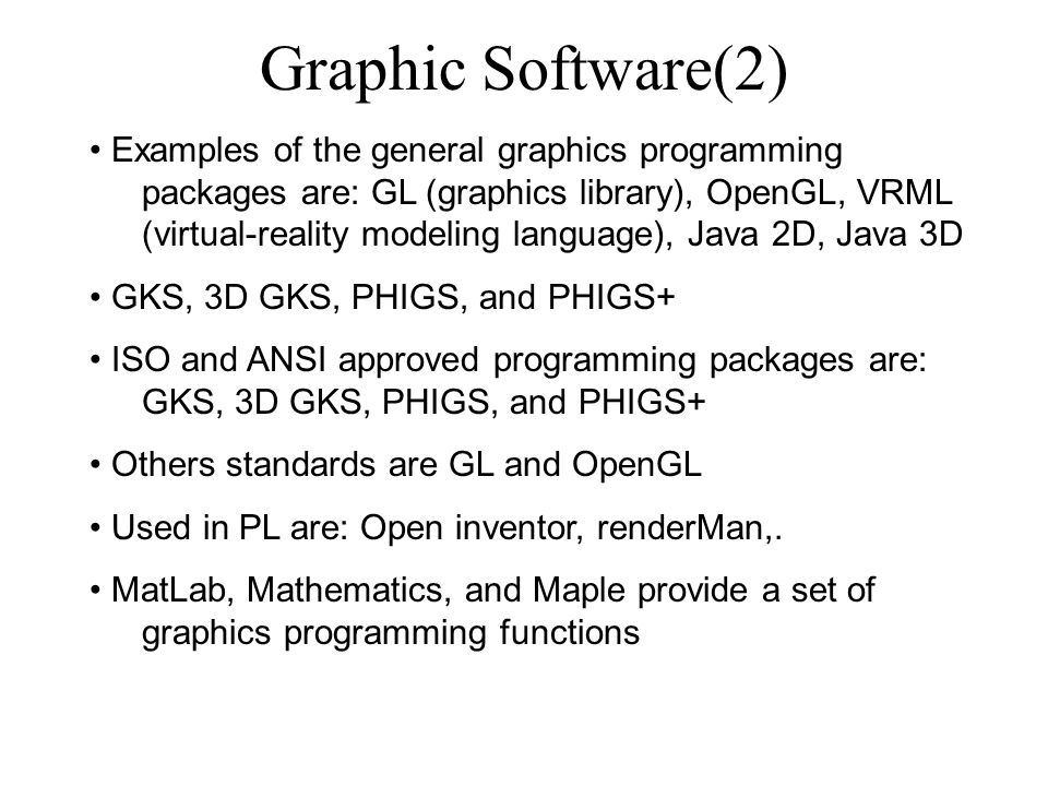 Graphic Software(2)