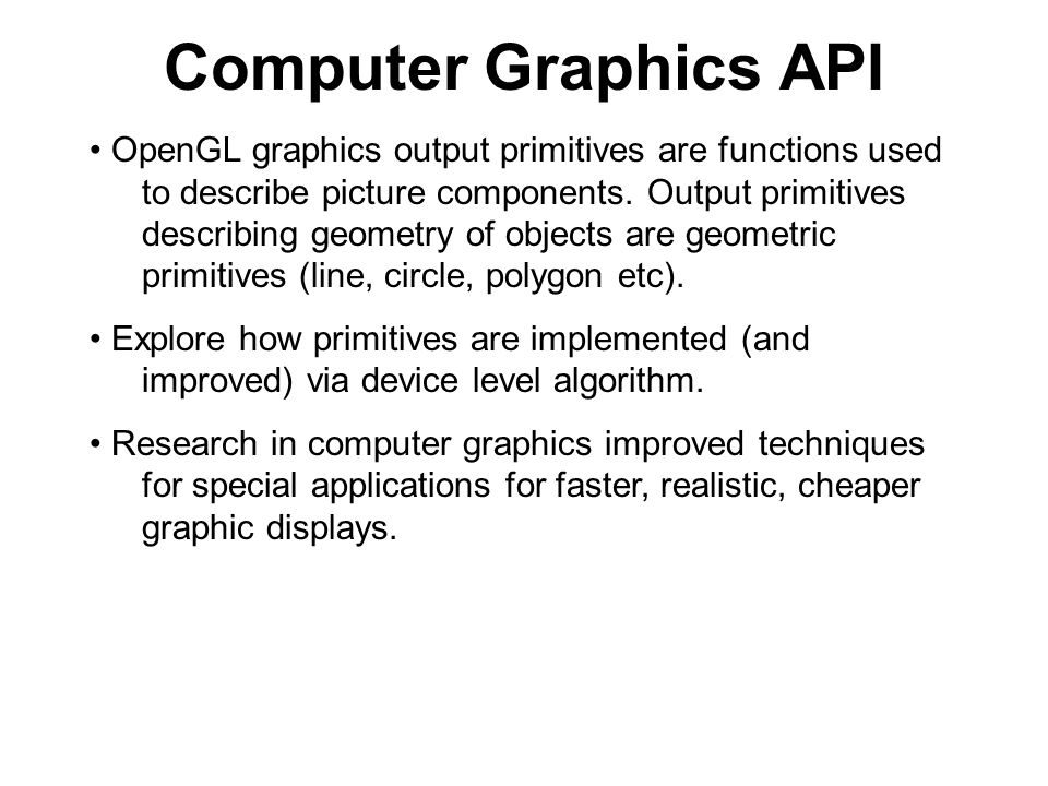 Computer Graphics API