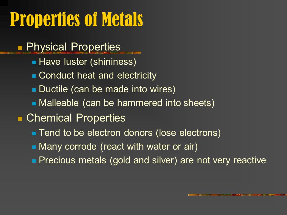 Periodic Table physical properties of elements on the periodic table luster : Elements & The Periodic Table - ppt download