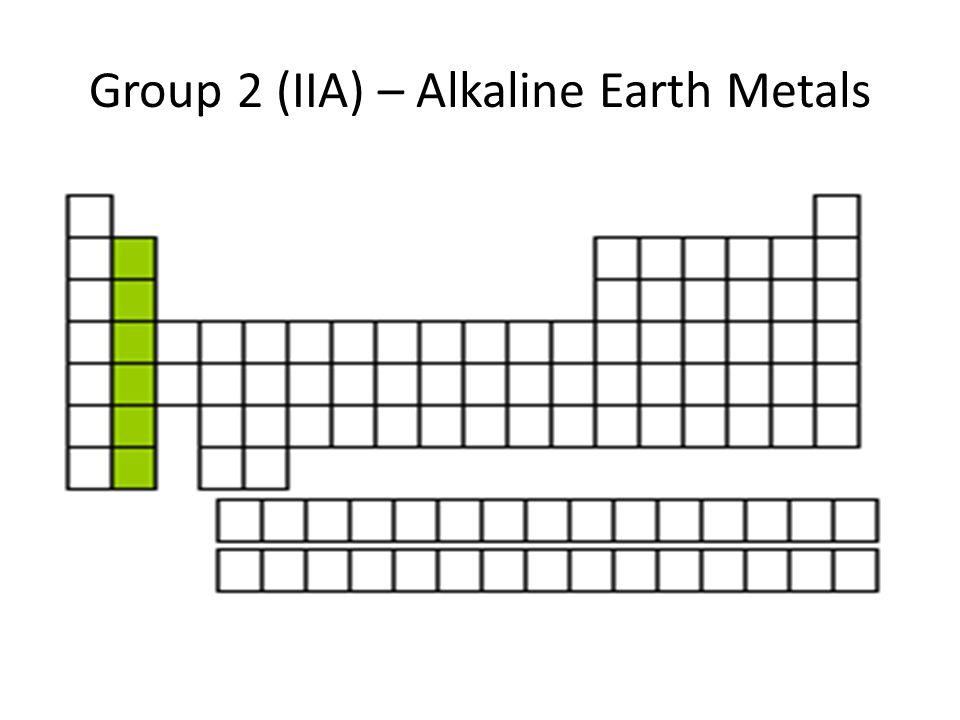 Group 2 (IIA) – Alkaline Earth Metals