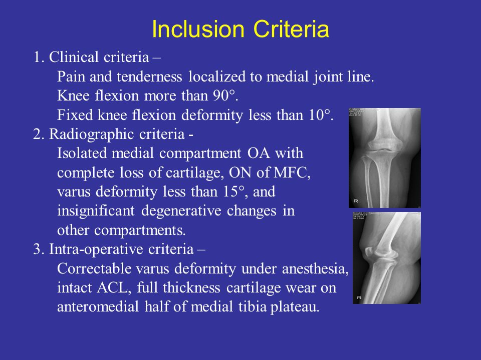 Inclusion Criteria 1. Clinical criteria –