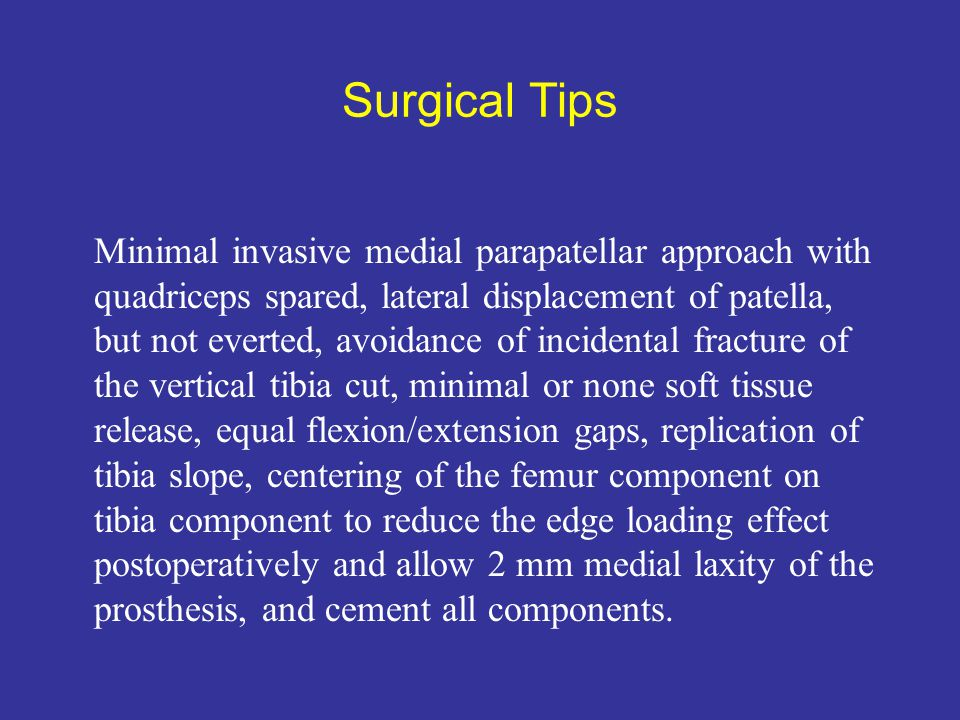 Surgical Tips