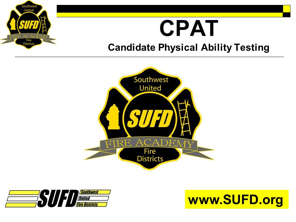 CPAT Candidate Physical Ability Testing
