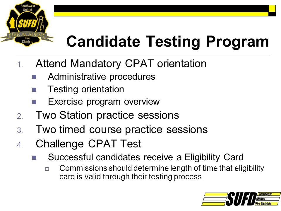 Candidate Testing Program