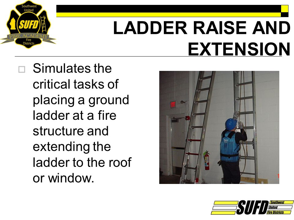 LADDER RAISE AND EXTENSION