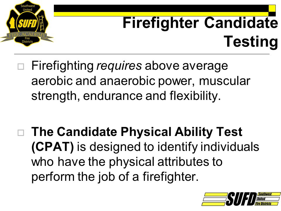 Firefighter Candidate Testing
