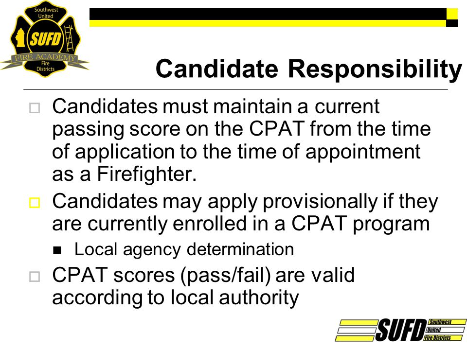 Candidate Responsibility