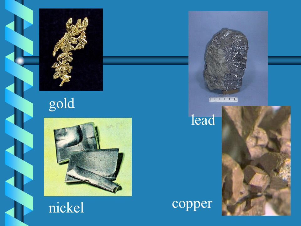 gold lead copper nickel
