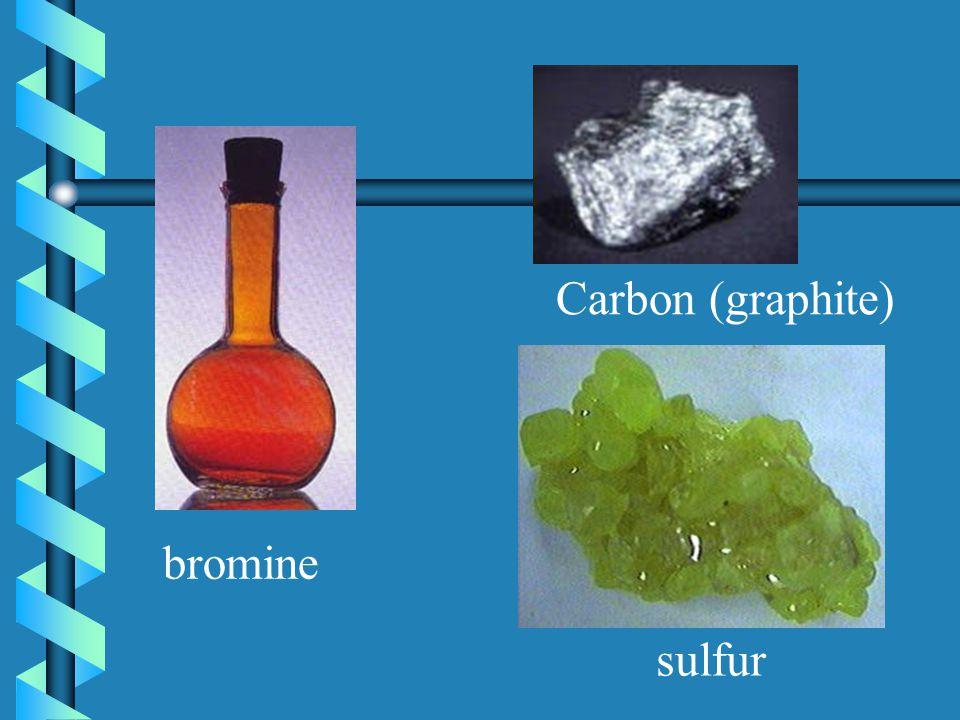 Carbon (graphite) bromine sulfur