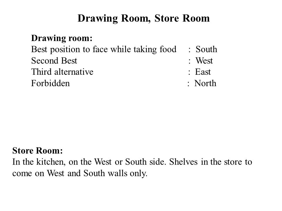 Drawing Room, Store Room
