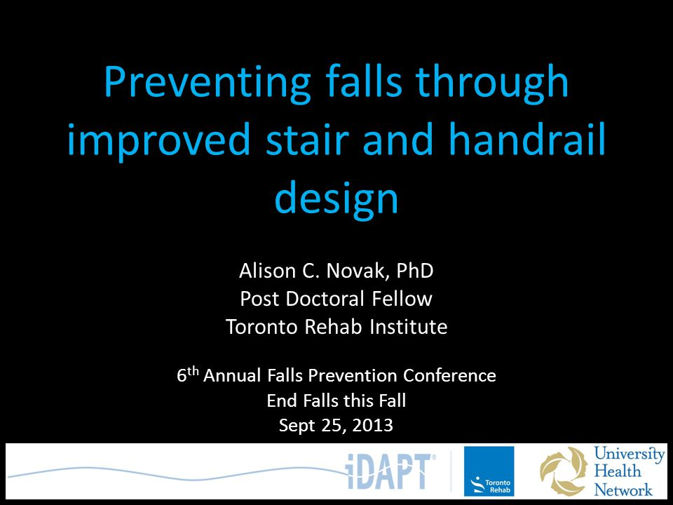 Preventing falls through improved stair and handrail design