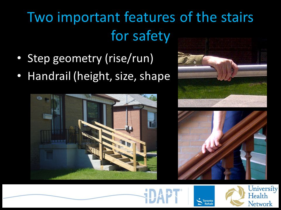 Two important features of the stairs for safety