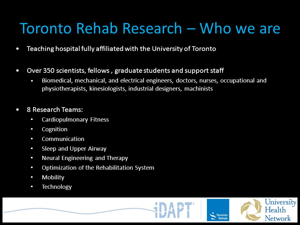 Toronto Rehab Research – Who we are