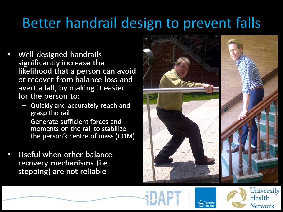 Better handrail design to prevent falls