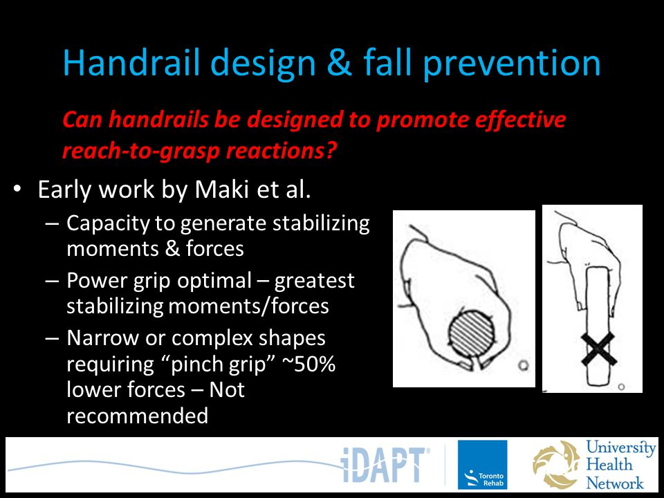 Handrail design & fall prevention