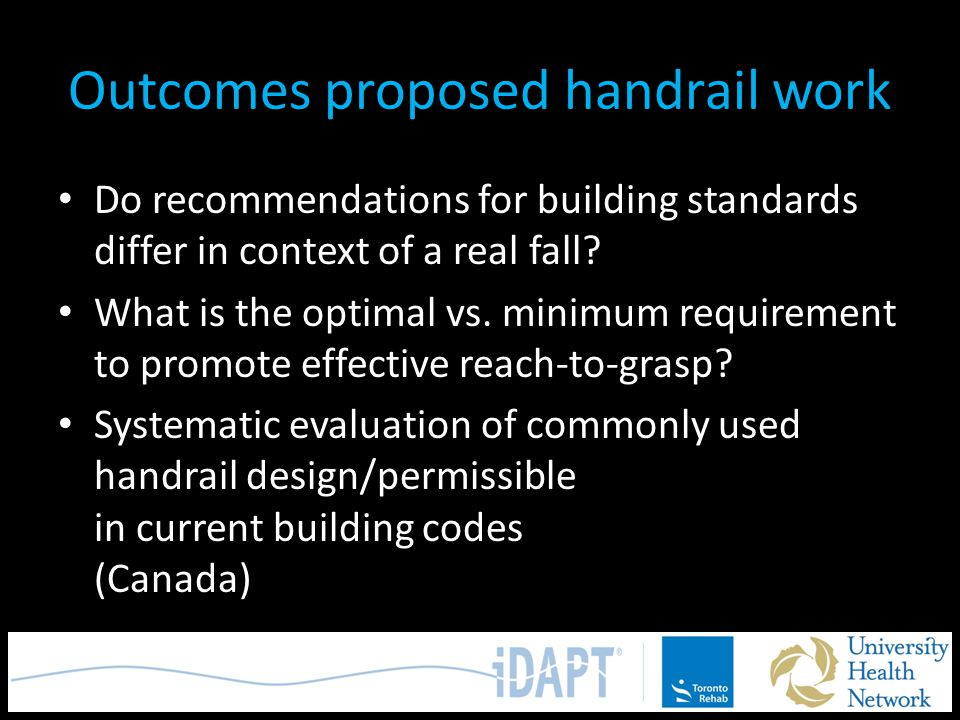 Outcomes proposed handrail work