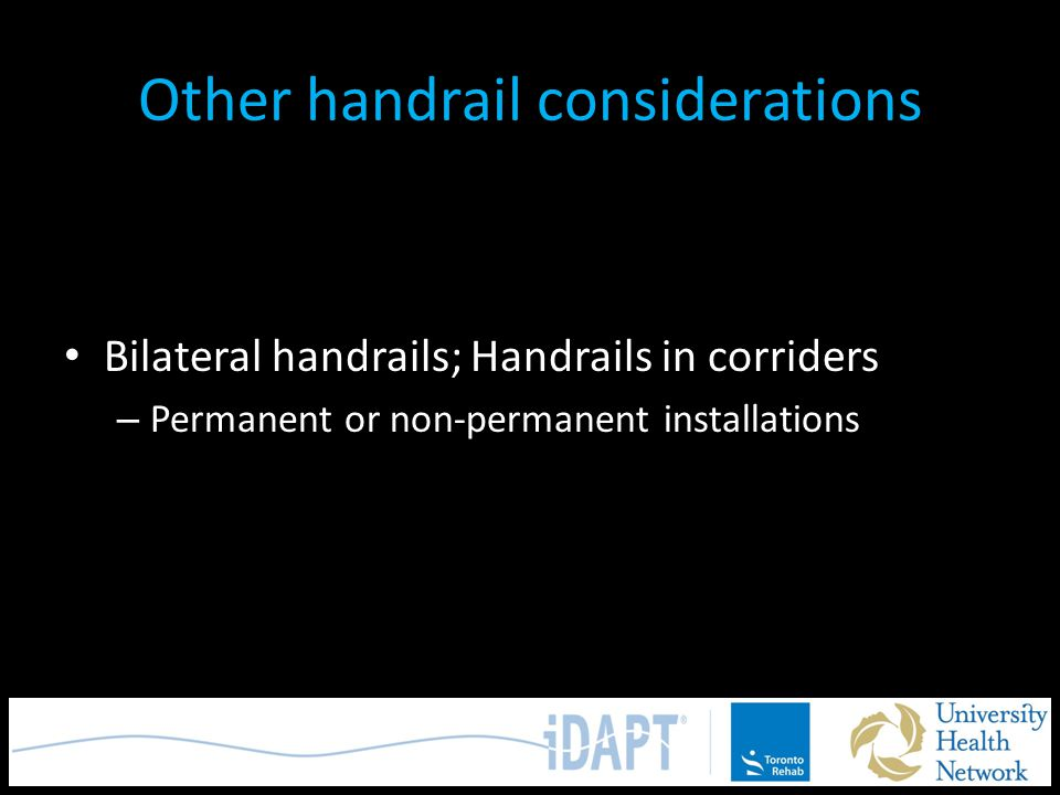 Other handrail considerations