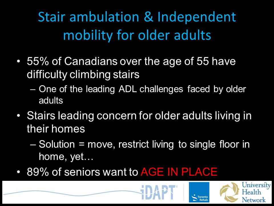 Stair ambulation & Independent mobility for older adults