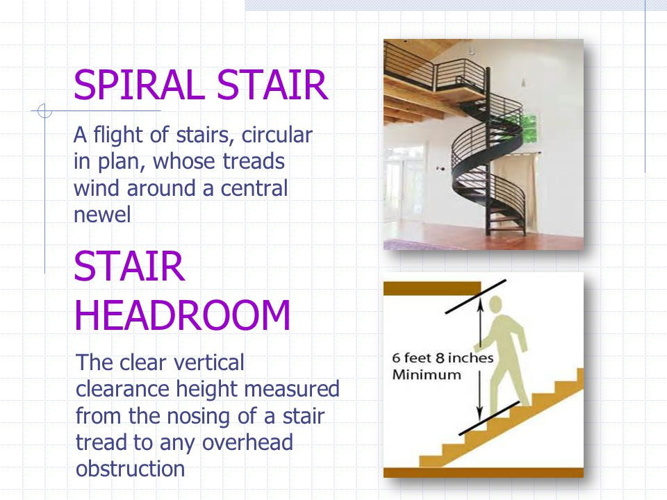 SPIRAL STAIR STAIR HEADROOM