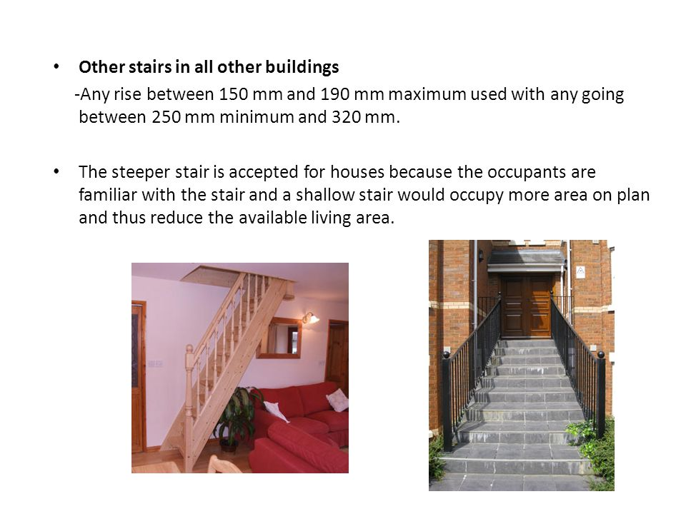 Other stairs in all other buildings