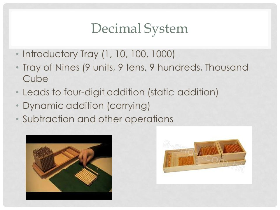 Decimal System Introductory Tray (1, 10, 100, 1000)
